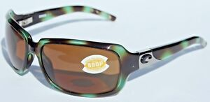 COSTA DEL MAR Isabela 580 POLARIZED Womens Sunglasses Seagrass/Amber 580P NEW