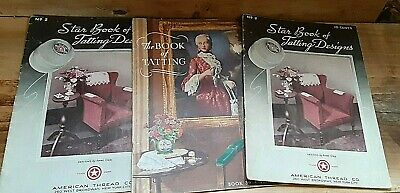 Antique 1930s Tatting Star Book #2 + The Book Tatting American Thread J P Coats
