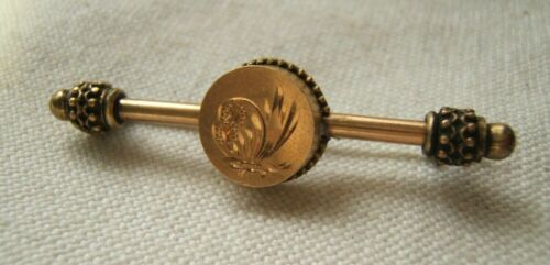VICTORIAN PIN BROOCH GOLD FILLED AESTHETIC STYLE