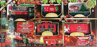 New EZTEC 37297 North Pole Express Christmas Train Set 33 Piece