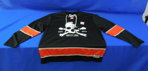 Motley Crue Limited Edition LE Authentic Skull Hockey Jersey 1981-2015 Size XL