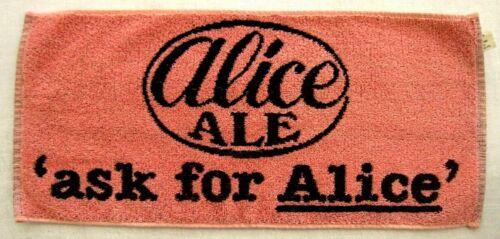 Vintage Beer Towel  80s? Alice Ale -