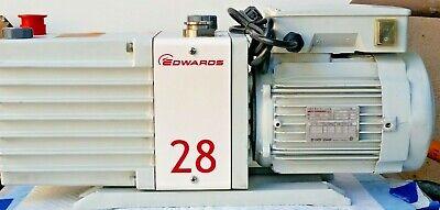 Rebuilt Edwards E2m28 Vacuum Pump 2 Stage Rotary Vane With 220-240v Motor