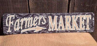 Farmers Market Vintage Locally Grown Mini Street Sign Novelty Metal 18 X 4