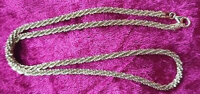 GV Gold Vermeil 925 Silver Twisted Chain Necklace 17 inches for sale  Shipping to South Africa