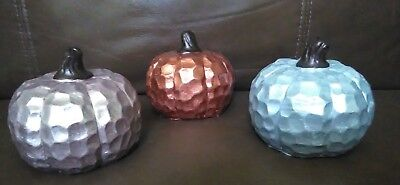 Cement decorative pumpkins set of 3 for sale  Shipping to South Africa