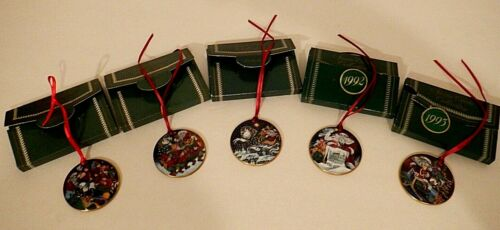 Christmas Bing and Grondahl Santa Claus Collection Ornaments 5 pieces 1989-1993