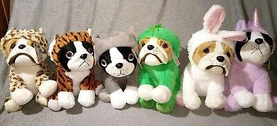 Neu Bulldogge im Kostüm Anzug Einhorn Tiger Hase Elefant Plüsch Kuscheltier Hund (Einhorn Kostüm Hund)