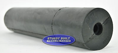 12 Black Straight Rubber Roller For Boat Trailers 1/2 Bore Hole 2 1/2 O.d.