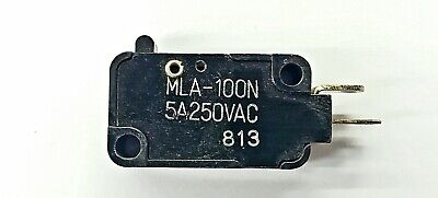 Mulon Mla-100n Spst- Off-on Push Button Plunger Micro Switch 5a 250 V Ac