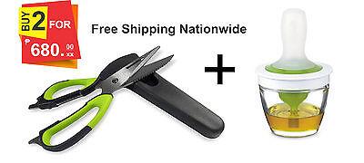 Silicone basting brush oil dispenser glass kitchen scissors shears shear