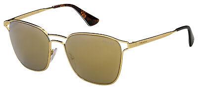 Prada Sunglasses PR 54TS ZVN1C0 55 Gold Frame | Gold Mirror Brown Lens