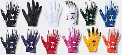 Under Armour Men's UA 2018 F6 Football Receivers Gloves Running Back -