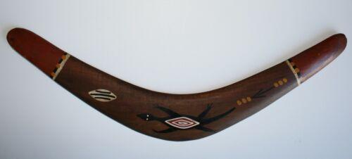 VINTAGE Original Hand Painted 17 inch Wood Boomarang