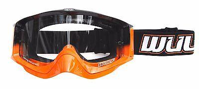 Wulf Wulfsport Adult Quad MX Motorcross Shade Goggle Orange One Size BC34551 - T
