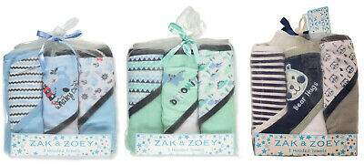 Zak & Zoey Baby Boys Hooded Towels 3-pack BRAND NEW!!!!!](Hooded Towel)