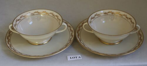 2 Franciscan Beverly CREAM SOUP BOWLS w/Underplate California