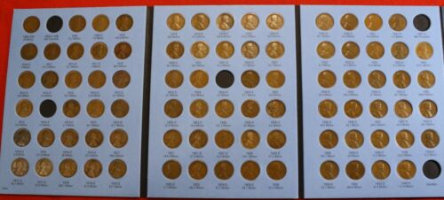 1909-1940 LINCOLN CENT WHITMAN FOLDER BOOK 85 COINS 4 missing NICE CIRC LW4