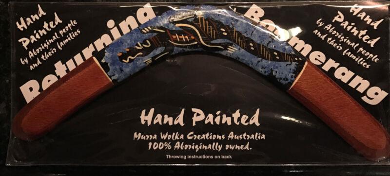 Original Hand Painted Australian Boomerang