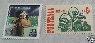 US commemorative postage stamps honoring football & Monday night TV games MINT