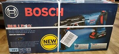 Bosch 18v Brushless 1 Sds-plus D-handle Rotary Hammer With 2 4.0 Ah Batteries