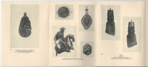 Antique Spanish Carved Jet Jewelry 1930 Hispanic Society of America Booklet