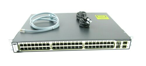 Cisco Catalyst 3750 Series 48-port Poe Network Switch Ws-c3750-48ps-s V05