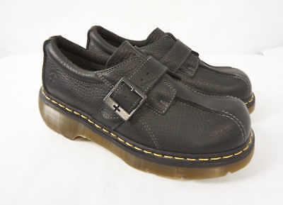 DOC DR MARTENS Club Monk Loafer Black Leather Platform Buckle Shoes US Women 11 Doc Martens Club