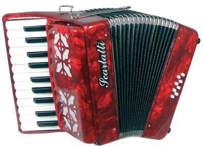Scarlatti 8 Bass PIANO ACCORDION, Red. 22 Treble, ideal starter from Hobgoblin