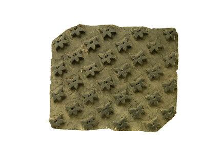 Antique Bunta Stamped Wood Printing Fabric Textile Batik Rajasthan India X45
