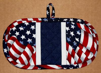 Finger Mitt Flag Patriotic Oven Fingermitt Pot Holder Potholder Handmade