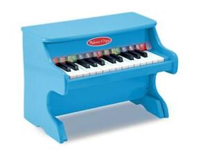 Melissa  Doug Learn-to-Play Piano With 25 Keys and Color-Coded Songbook - Blue Condtion: Like new condition, minor crack