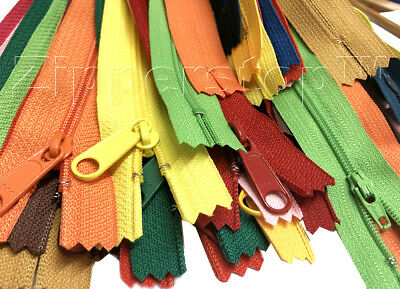 DEAL OF THE DAY 20 MIXED #4.5 Handbag and YKK #3 Nylon Coil Zippers in Vinyl - Deal Of The