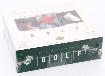 2001 Upper Deck Golf Sealed 24 PACK Box Tiger Woods Rookie Card AUTO PSA BGS 10?