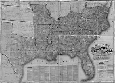 US CONFEDERATE STATES 1862 MS MAP Petal Philadelphia Picayune Richland Ridgeland