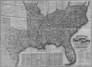 US CONFEDERATE STATES 1862 MO MAP BARTON BATES BENTON BOLLINGER BOONE COUNTY big