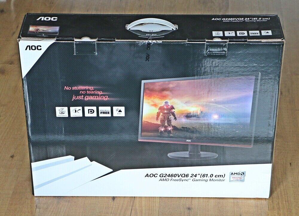 """AOC Gamer Monitor G2460VQ6 61 cm 24"""" LED-Technik NEU !!!"""