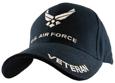 U.S. Air Force Veteran Hat / USAF Insignia Baseball Cap Insignia Baseball Cap