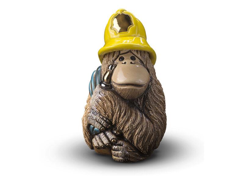 De Rosa - Orangutan Fireman Figurine