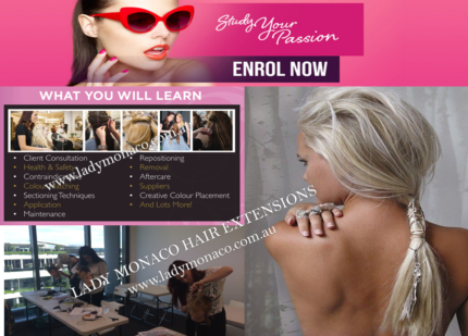 Russian Human Hair Extension Intro 6 Method Training Course $499