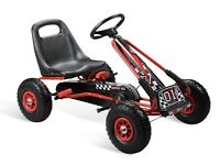 Kids Children Pedal Go-Kart Ride-On Car Hand Brake Adjustable Seat Rubber Wheel