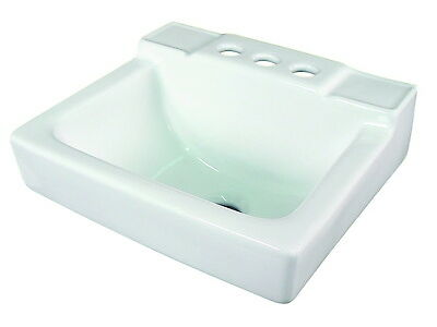 SMALL WALL MOUNT SINK 14x12  WHITE FOR BATHROOM NEW WALL HUNG SINK