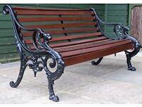 Antique Griffin Garden Bench made in 1863 by William corbit.