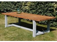SUPERB Vintage French Large Handmade Three Metre Table From South West France (267 x 100 x 75cm)