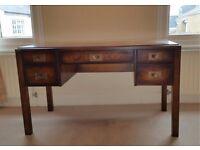 Solid wood bureau plat style writing desk – contemporary classic