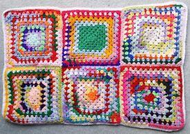 Hand Crocheted Small Blanket