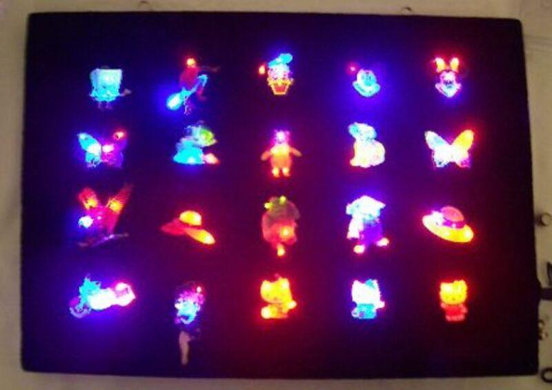 BULK Lot 100 Assort Body Flashing LED Blinky CLOSE OUT Birthday Favor Bag Filler