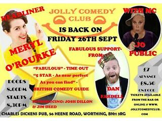 Jolly comedy club - worthing's most loved comedy night