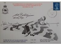 Postal Cover. 1982 RAF Retired the Vulcan as a bomber 3 signatures. many inserts. only 83 issued