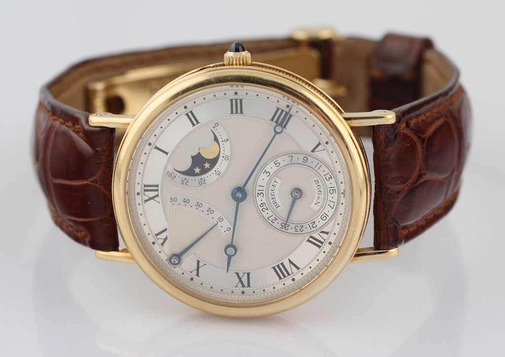 Breguet Classique Power Reserve Ref#3137BA Skeleton Back 18k Yellow Gold Watch - watch picture 1